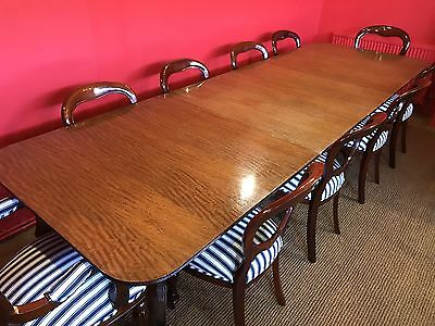 10.9ft GRAND GEORGE III STYLE MAHOGANY TABLE PROFESSIONALLY FRENCH POLISHED