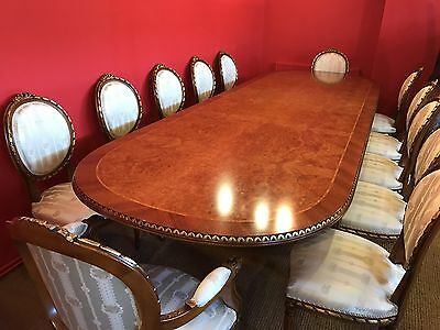 11.8Ft Sensational French Louis Xvi Grand Dining Set Pro French Polished