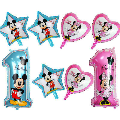 Number 1 Supershape 1st First Mickey Minnie Mouse Birthday Giant Foil Balloon
