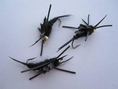 NYMPHS **VERY NICE** 6 EA Q-5 KAUFMAN STONEFLY/'S COLORS /& SIZES