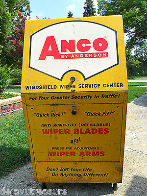 Vtg 1964 ANCO WIPER BLADE --WHEELED SERVICE Station CABINET- Gas Oil Advertising