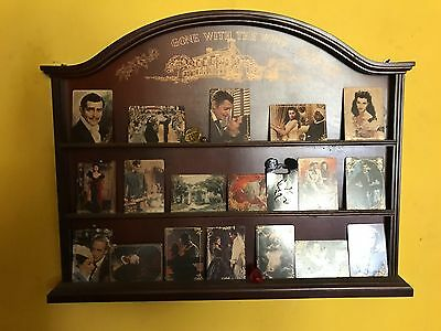 Gone with the Wind Porcelain Collector Cards & Wood Display Shelf!  18 cards