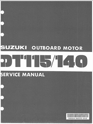 81-86 Suzuki DT115 DT140 2-Stroke Outboard Motor Service Repair Manual CD