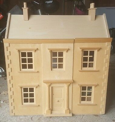 Wooden Dolls House Complete With Furniture Picclick Uk