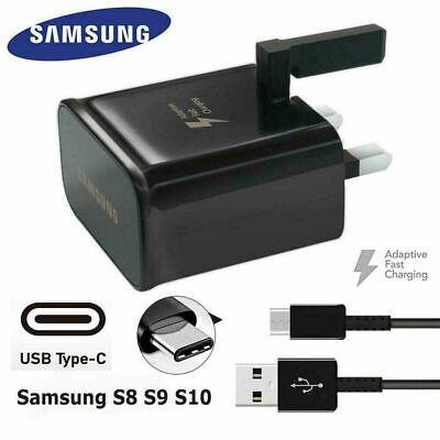 100% GENUINE FAST CHARGER PLUG & CABLE FOR SAMSUNG GALAXY S7 S6 EDGE s8 S9 S10