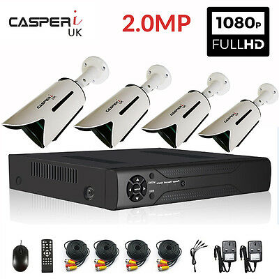 8 Channel H.264 HDMI DVR 4 x Bullet 1080P 2MP AHD Outdoor Camera Security System