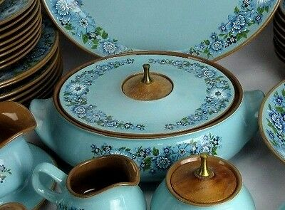 """Taylor Smith Taylor Vintage 1968 AZURA China 11.5"""" Casserole With Lid Only"""