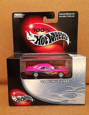 100% Hot Wheels car '69 Buick Riviera 1:64 Die Cast NEW Limited