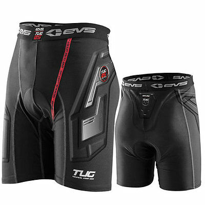 L Large EVS TUG Adult Compression Impact Shorts MX Motocross Armour Motorbike