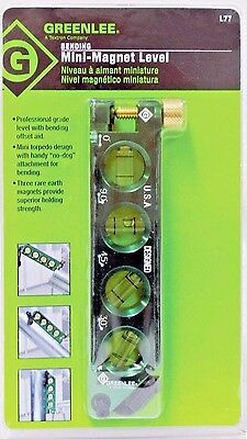 Greenlee Mini Magnetic Bubble Level L77 NEW  FREE SHIPPING