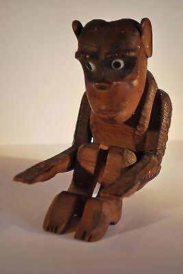 Black Forest Antique Wooden Monkey - Possibly Part of a Pipe Stand