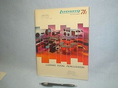 Vintage 1971 Ludwig Total Percussion Catalog 104 Pages