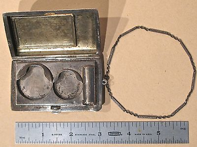 Sterling Silver Card and Money Case With Chain James JE Blake