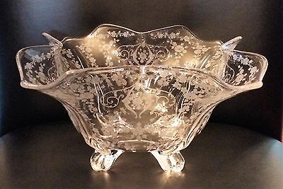 Cambridge Glass Diane Crystal Footed Bowl