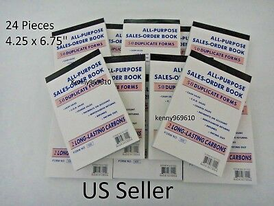 24X- Sales Order Book Receipt 50 Duplicate Forms Carbonless New US Seller