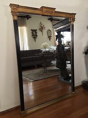 French Empire Style Gilt Wood Wall Mirror