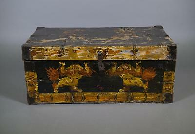 Antique Chinese Tibetan Wooden Chest