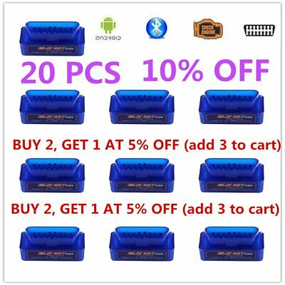 Mini ELM327 OBD2 V2.1 Car Bluetooth Scanner Android Auto Scan Diagnostic Tool B#
