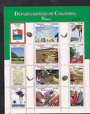 O) 2007 Colombia, Emblems, Coat, Churches. Tourist Places, Department Sucre, Lit
