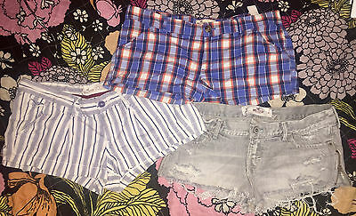 Hollister Shorts Lot of 3 Assorted Styles Juniors Size 5