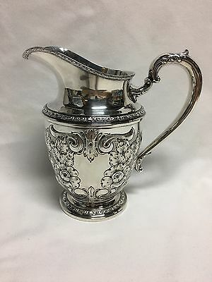 Frank Whiting Talisman Rose Sterling Silver Hand Chased Water Pitcher 1926