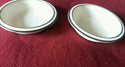 2 Denby Madrigal cereal bowls rimmed 7.5 inches