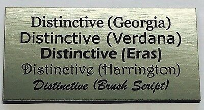 Laser Engraved Silver Exterior UV Rated Name Plate Trophy Plaque