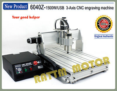 3 Axis 6040 1500W USB Mach3 Engrave Drilling/Milling CNC Router Machine 220VAC