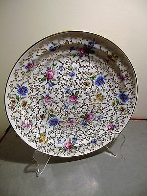 French Limoges All Floral Plate - Ca 1920