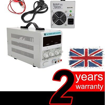 Adjustable Lab DC Bench Power Supply 0-10A 0-30V Variable Linear QW-MS3010D UK