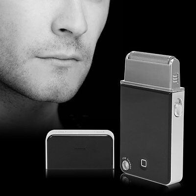 Portable Men Mini USB Rechargeable Reciprocating Blade Electric Razor Shaver New