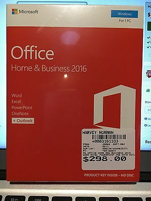 Microsoft office 2016 home and business new sealed 1pc - Windows office home and business ...