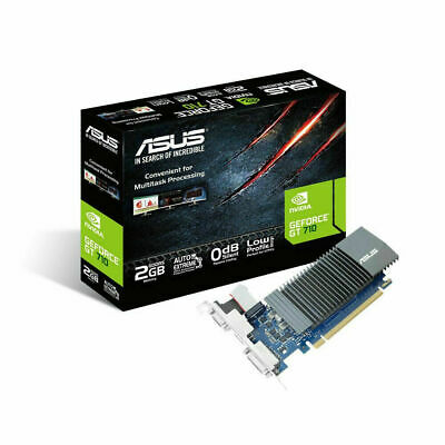 Asus nVidia GeForce GT 730 2GB GDDR5 HDMI DVI Low Profile Gaming Graphics Card