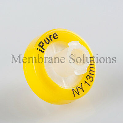 100/pk Syringe Filter OD=13mm,Pore Size=0.22μm,made with NY,ipure,Non sterile