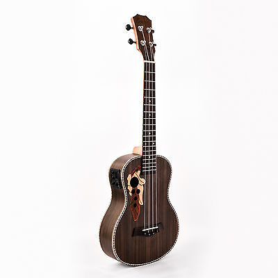 Caramel CT500 Rosewood Tenor Acoustic Electric Ukulele With Truss Rod