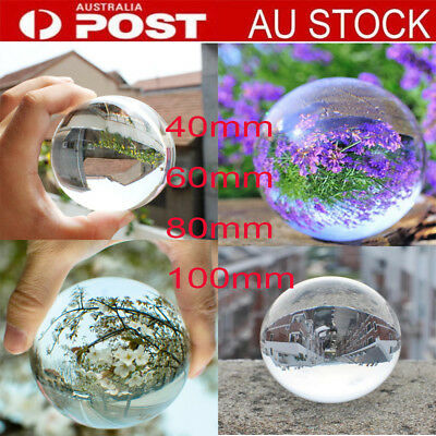 Asian Quartz Pure Clear Magic Crystal glass Healing Ball Sphere 40/60/80/100mm U