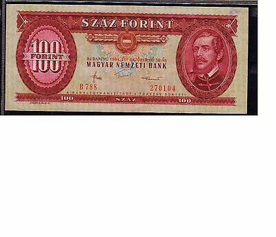 Hungary Banknote 100 Forint , Xf++