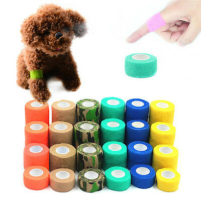 Animal Horse Pet Dog Cat Self-adhesive Non Woven Vet Wound Bandage Wrap Tape