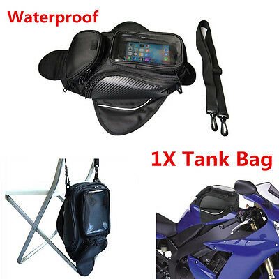Upgraded Version 1x Waterproof Magnetic Motorcycle ATV Oil Fuel Tank Bag Luggage