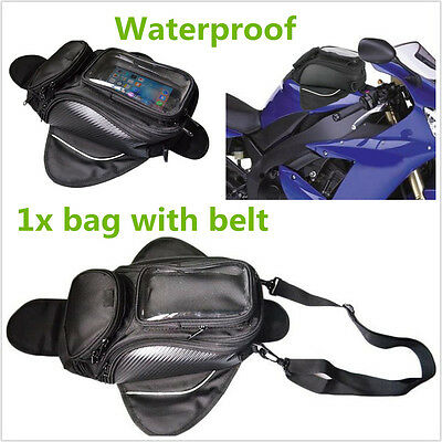 Portable Upgraded Waterproof Magnetic Motorcycle Motorbike ATV Oil Fuel Tank Bag