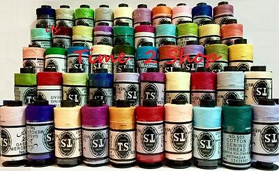 50 x Spools Large 100% Pure Cotton Sewing Thread Yards Each For All Purpose New