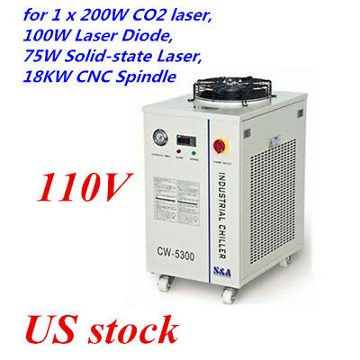 US stock CW-5300DI Industrial Water Chiller ( 110V 60HZ) for 1 x 200W CO2 laser