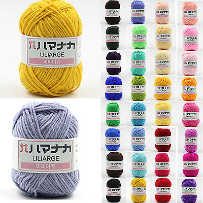 Lot of sale 42 color Crochet Knit Bamboo soft baby Cotton Yarn Natural Wool Yarn