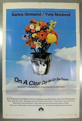 On A Clear Day You Can See Forever - Original American One Sheet Movie Poster