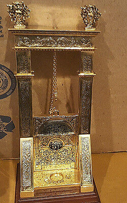 Noble Collection 24kt Gold Plated French Guillotine Cigar Cutter Desktop Medusa