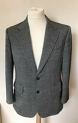 "Vintage Burberry Wool & Cashmere Blazer Jacket - 42"" Chest L"