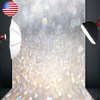 5X7FT Glitter Shiny Halo Christmas Theme Photography Backdrop Photo Studio Props