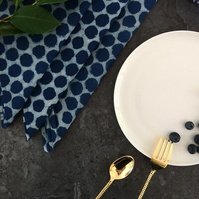 NEW Indigo Dots Napkins -Set Of 4