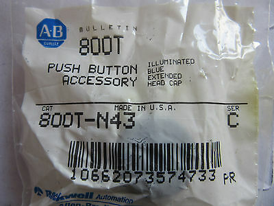 Allen Bradley 800T-N43 Blue Acrylic Lens with Gasket NEW!!! Free Shipping