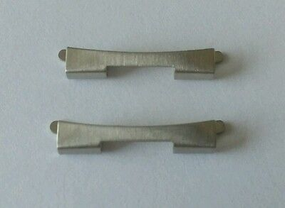 Omega Bracelet End Piece/Link Stainless Steel Reference 626 Genuine (x2)